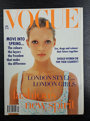 VOGUE Magazine March 1993 featuring Kate Moss by Corinne Day RARE