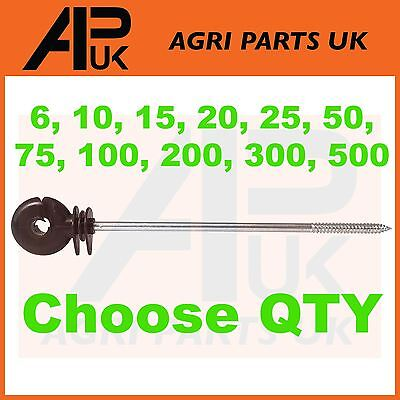 ALL QTY Long Distance Ring Screw Insulators Electric Fence Poly wire Rope Offset