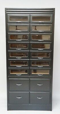 1920's Painted Shirt Cabinet