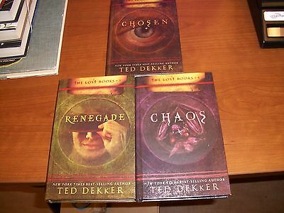 Lot of 3, The Lost Books Vol. 1, 3, 4 by Ted Dekker