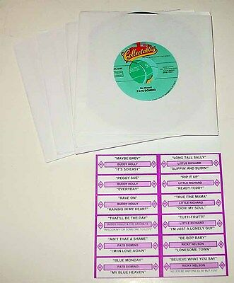 New 70's Disco 45 RPM Jukebox Record Set With Printed Title Strip Cards