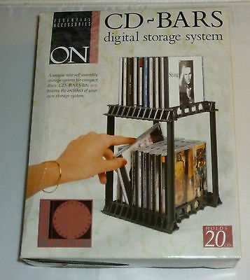 On - Cd Bars Digital Storage System Holds 20 Cd's  X 2