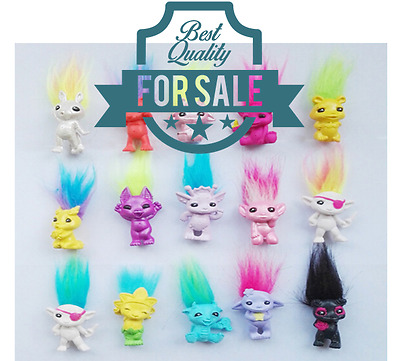 "10Pcs//lot Random vintage trolls Lucky Doll Mini Figures Toy 1/"" cake toppers"