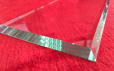 New Beveled Carriage Clock Glass :- 3mm thick 90mm x 40mm 35 Degree Bevel, Look