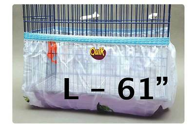 Bird cage tidy seed catcher guard skirt style pile fabric - White - Large