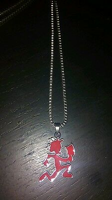 1inch RED hatchet man charm necklace with chain ICP
