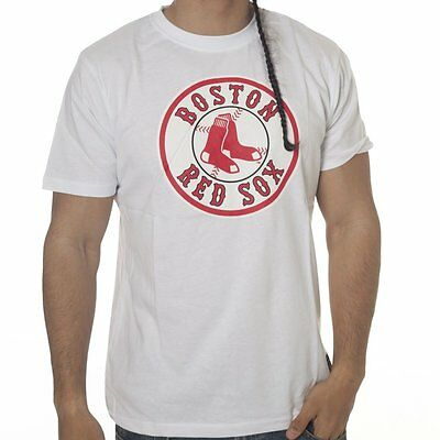 Mens Majestic Athletic MLB Boston Red Sox White Graphic Baseball T Shirt Size M