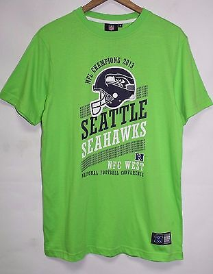 Mens Seattle Seahawks Tee NFL Apparel Graphic Print Lime T Shirt Size M