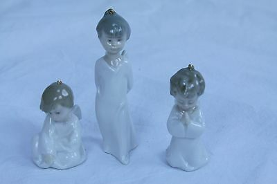 Authentic LLADRO  Nativity  set of 3 Christmas ornaments angels Made in Spain