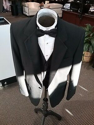 Men's Formal Tuxedo Jacket, 1 Button Notch Lapel, Black