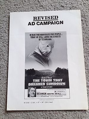 THE TOWN THAT DREADED SUNDOWN Vintage MOVIE PRESSBOOK Horror