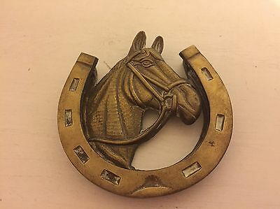 Vintage Brass Horse Shoe  Door Knocker