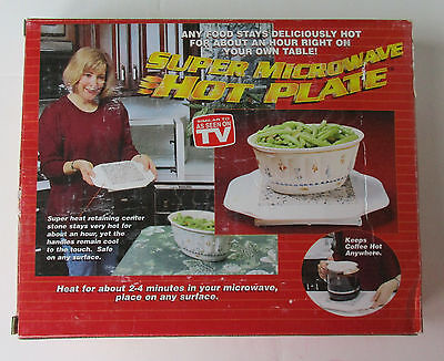 Super Microwave Hot Plate As Seen on TV Food Warmer H21463