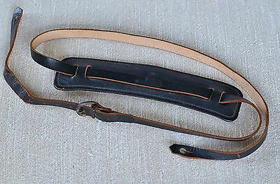 Vintage Gretsch Guitar Strap 1950's or 1960's black leather Bobby Lee style