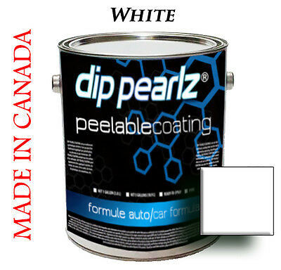 Dip Pearlz Peelable Rubber Paint Coating - White Matte sprayable Plasti Dip
