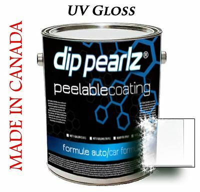 Dip Pearlz Peelable Rubber Paint Coating - U.V. Gloss sprayable Plasti Dip