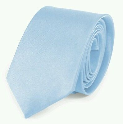 Baby blue light blue satin tie for kids boy toddler or baby
