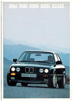 BMW SEIE 3 CATALOGUE 33 PAGES 1989 format A4 FRANCE