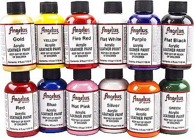 Angelus Acrylic Leather Paint 4 oz 12 pack (A720-4-12PK)
