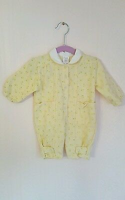 Vintage baby floral retro sleepsuit 3-6 months