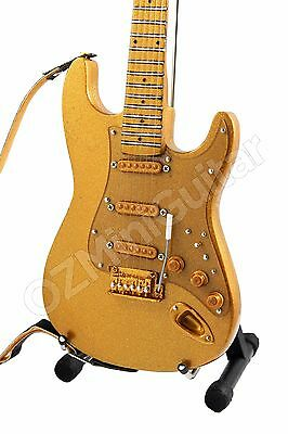 Miniature Guitar PRINCE Custom Gold Leaf & Strap