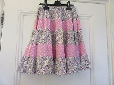 9-10 yrs: Lovely tiered summer skirt - Purple floral/Pink spotty - Mini Boden