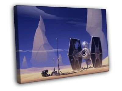 TIE Fighter Pilot Star Wars Movie Awesome Painting Art FRAMED CANVAS WALL PRINT