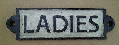 Ladies Cast Iron Restroom Sign Victorian Style Cast Iron Door Sign FREE SHIPPING
