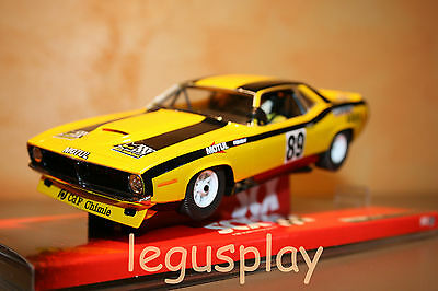 Slot SCX Scalextric 64870 Plymouth AAR Cuda Yellow Chimie - New