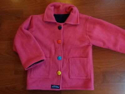 Girls Designer 'nippers Scotland' Pink Button Jacket Coat 4 Years