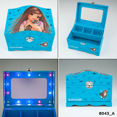 New Top Model Jewellery Box With Light Pale Blue