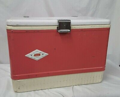 Vintage and Rare Pink Coleman Cooler with Diamond Logo