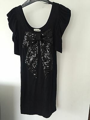 Black Dress With Sparkly Bow, Size S/M