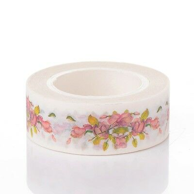 Flower DIY Decorative Single-Sided Tape Adhesive Tapes Colorful 10m/roll (C18)