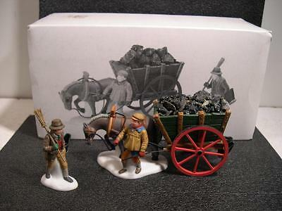 Dept 56 Heritage Village Collection DELIVERING COAL FOR THE HEARTH 58326 Boxed