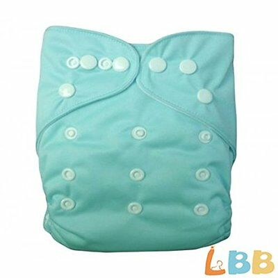 LBB (TM) Baby Cloth Diapers Pocket Diapers With Adjustable Snaps,Baby Blue