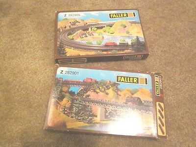2- Faller (1) Z282905 & (1) 282901 Z Scale - Opened-Partial?**
