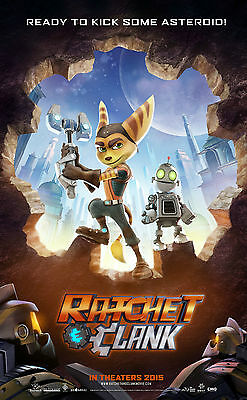 """Ratchet and Clank: Movie  VINYL Poster 11"""" x 17"""" HI-RES BANNER"""