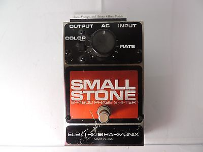 VINTAGE v3 ELECTRO HARMONIX SMALL STONE PHASE SHIFTER PHASER  PEDAL EH-4800 1980