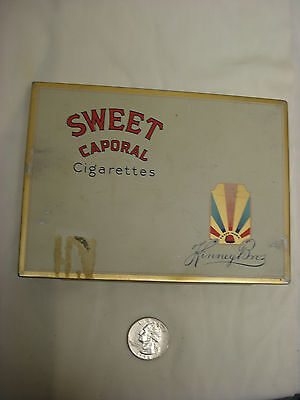 Vintage Tobacco Tin: Flat Fifty Sweet Caporal Cigarettes KINNEY BROS Canada S1