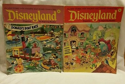 2 Vintage Disneyland Magazine For Young Readers 1971 #'s 7 & 22