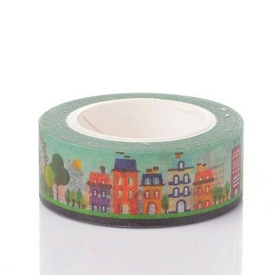 15mm Buildings DIY Decorative Single-Sided Adhesive Tapes Colorful 10m/roll