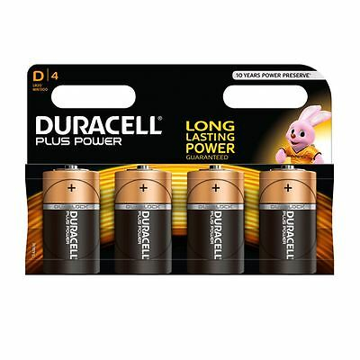 Duracell Plus Power D Battery pack of 4