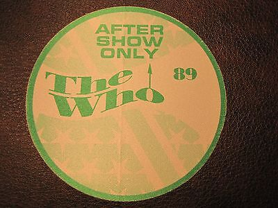 The Who Tour Backstage Pass! Unpeeled!!! RARE!!!!
