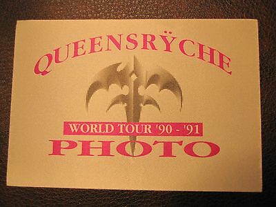 Queensryche Tour Backstage Pass! Unpeeled!! RARE!!