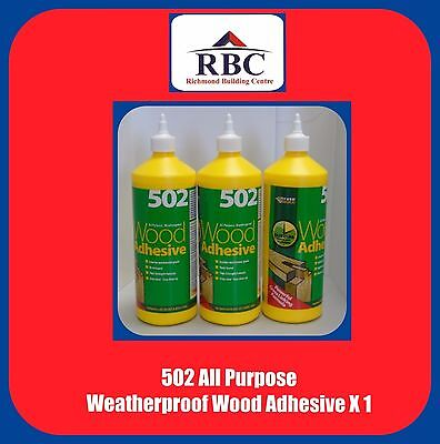 502 All Purpose Weatherproof Wood Adhesive 1L Fast Cure Sets In 10 Minutes X 1