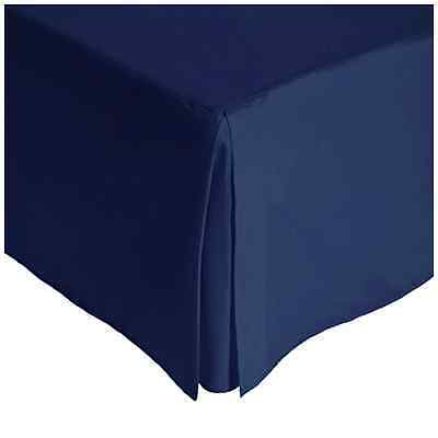 Julian Charles King Size Percale 180 Thread Count Base Valance Navy - UK SELLER