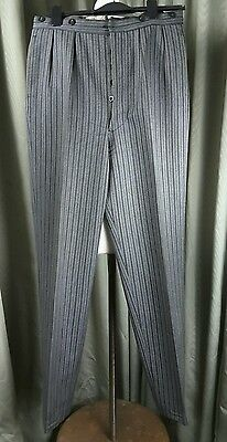 Vintage 50s Moss Bros Fishtail Morning Wool Dress Trousers W32 L33
