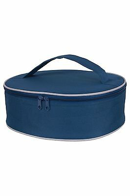 KAF Home Portable Insulated Pie Carrier Navy Blue 3.5 x 11.5 x 10.75-Inches NEW