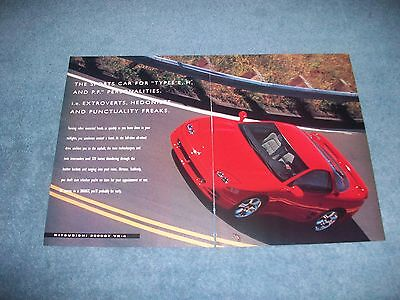 """1995 Mitsubishi 3000GT VR-4 Vintage Ad """"The Sports Car for Types E, H, & PF"""""""